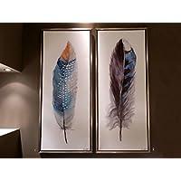 Insieme - Cuadros Decorativos - Plumas Colores J/2 (130x55)