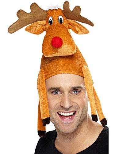 en-rentier Hut - Braun, 1er Packung (Weihnachten Hüte Für Erwachsene)