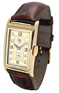 Lip 1663012 Sir Winston Churchill Analogue Watch with Gold Plated Case Two Tone Dial