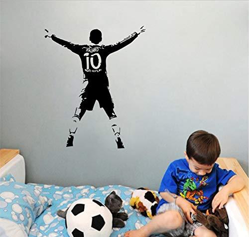 Wandaufkleber Fußballer Ball Kinder Schlafzimmer Aufkleber Pvc Bild Poster 70X56 Cm