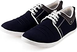 Golden Sparrow MenS Blue Fabric Synthetic Casual Shoe (Tm-K03-06)- 6 Uk