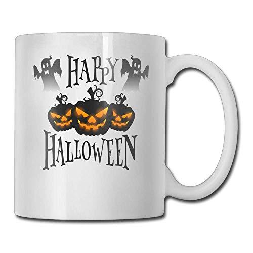 Happy Halloween Black 11oz Ceramic Coffee Mug Idea Birthday Christmas and Inspirational Gift