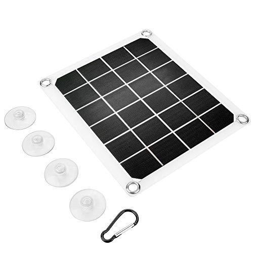 Decdeal Solarmodul 10W 5V Tragbarer Doppelter USB Anschluss Flexibles Hocheffizientes Sunpower Polycrystalline Solar Panel Power Kit