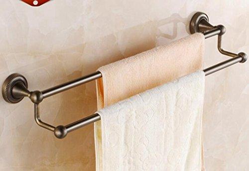 Körperpflege,Sucastle Pastoral im europäischen Stil mit antiken zweipolige Handtuchhalter Badezimmer Badezimmer Anhänger Handtuchhalter an der Wand Handtuchhalter -