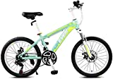 Bici per bambini Mountain bike per bambini 20 pollici Velocità per uomo e donna Bicicletta per giovani Bicicletta estiva Alpinismo Bicicletta Velocità regolabile (Colore: Verde, Dimensioni: 20 pol