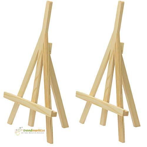 nhalter 2er Set aus Holz ca. 26 x 14 x 4 cm Groß zusammenklappbar Mini-Staffeleien Tischkarten in Restaurant Ministaffeleien Tisch-Deko mit Bildern für Hochzeit | 916850181 ()