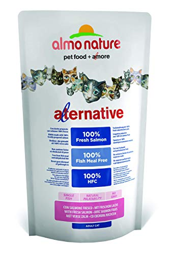 Almo Nature Cat Saumon Riz Aliment Chat Sec Premium Sac, Multicolore, Unique