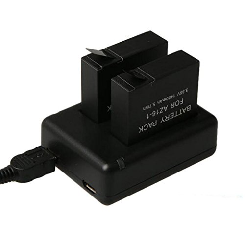MagiDeal 5V 2A Micro USB Dual Port Charger Dock for Xiaomi Yi 2 Sports Action Camera  available at amazon for Rs.740