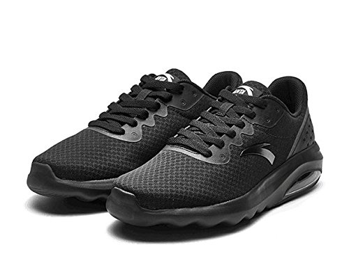 JEDVOO Hommes Femme Chaussures de Sports Course Fitness Gym Athlétique Baskets Sneakers Chaussures de Multisports Outdoor Casual(White41)