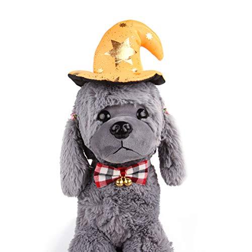 Amosfun Haustier Stirnband Halloween Kostüme Lustige Haarband Kopfschmuck Kostüm Zubehör für Katze Hund Welpe Halloween Party Favors Pet Dress Up Kostüm (gelb) (Besitzer Und Halloween-kostüme Hund)