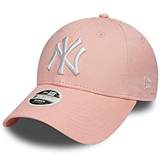 New Era 9forty Strapback Cap MLB New York Yankees Los Angeles Dodgers Men's Women's Cap Hat Hat in Bundle with UD Bandana - Ny Pink Woman #2963, OSFA (One Size fits All)