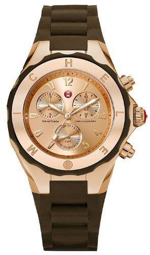 Michele Tahitian Jelly Bean Chronograph Rose Gold Tone Womens Watch MWW12F000060
