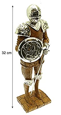 Knights Of The Realm Silver And Stone Effect Figure.