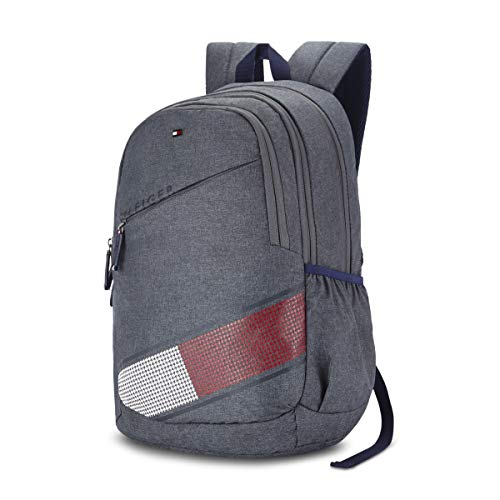Best tommy hilfiger backpack in India 2020 Tommy Hilfiger Xylo 30 Ltrs Grey Laptop Backpack (TH/XYLOLAP07) Image 2