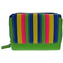 cb8c46eb39612 flevado Trend Geldbörse Multifarben Damen Brieftasche knallig bunt