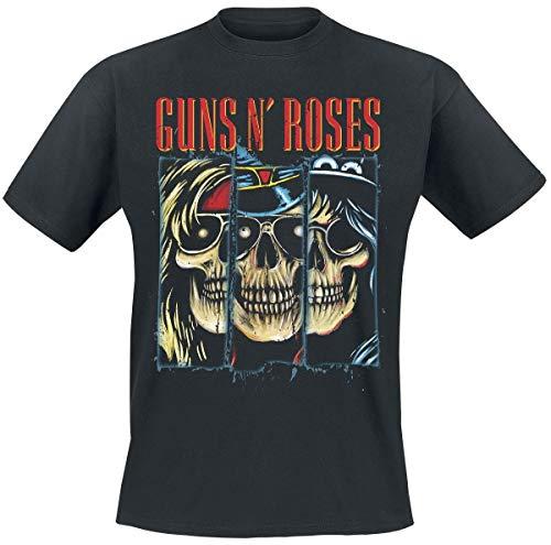 Guns N Roses Split Skulls T-Shirt schwarz M -