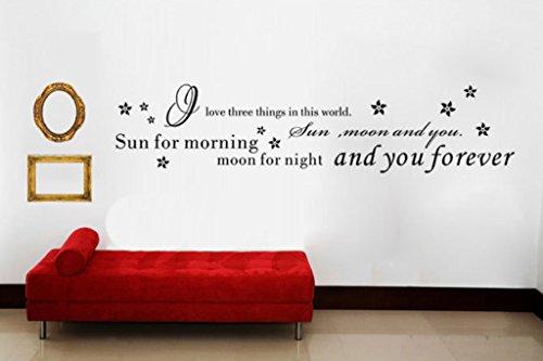 Aoligei Englisch inspirierend ästhetischen Wohnzimmer Schlafzimmer Dekoration Wandaufkleber