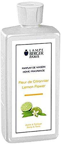 Lampe Berger 115116 Fragranza Fiore di Limone, Liquido, Argento, 7.8 x 5 x 18.5 cm, 34 unità