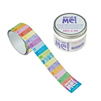Measure Me! Roll-up Door Frame Height Chart for Childrens Nursery - Pastel Rows