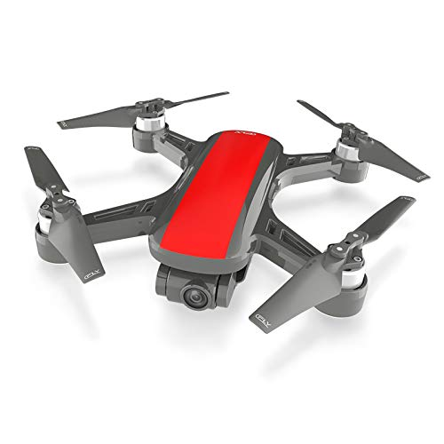 RONSHIN Dream 5G Altitude Hold Drone GPS Optical Flow Positioning Follow Me RC Quadcopter One Key Return Red 3 Batteries - 800 Low Power Kit