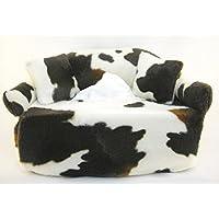 Taschentuchsofa Kuhschönheit Braun-Weiß - Handgefertigt Geschenk Geburtstag Valentinstag Muttertag