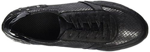 Remonte D1807, Baskets Basses Femme Noir (Schwarz/Granit/Schwarz/Schwarz / 45)
