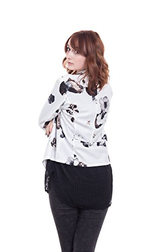 Abbino Blanche Damen Blazer Sakkos Jacken - Made in Italy - 2 Farben - Damenblazer Damenjacken Frühjahr Sommer Herbst Unifarben Freizeit Hüftlang Locker Sitzend Feminin Sexy Sportlich Festlich Weiß