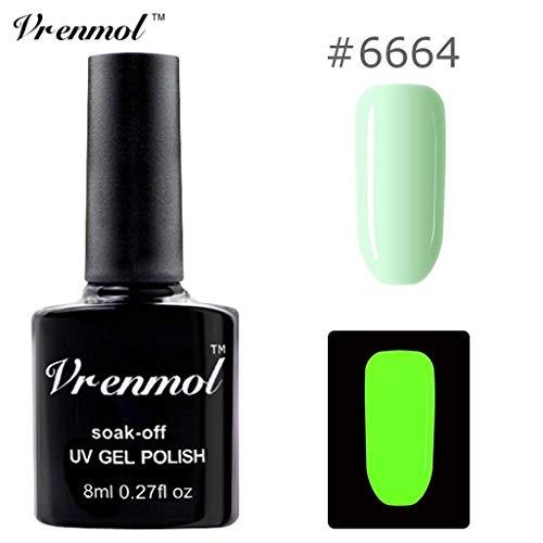 Nagellack im Dunkeln glänzen, Ungiftiger Nagellack 18 Farben Neon Neon Gel Nagellack Watopi (Halloween Maniküre French)