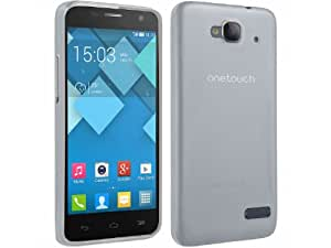 Coque Gel transparent Blanc pour Alcatel One Touch idol S / Bouygues Telecom BS472 / Ultym 4 + Stylet + 3 Films OFFERTS !!