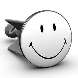 Waschbeckenstöpsel Smiley black & white, das Original von Plopp, Made in Germany Art. 468