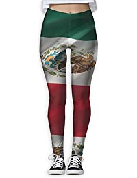 surce Mujeres Damas Bandera mexicana Cintura alta Leggings casuales Medias  Pantalones para correr de yoga Elástico ffdab1ff5358