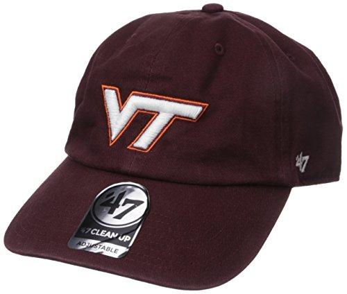 47 Brand NCAA Virginia Tech Hokies reinigen bis Verstellbarer Hat, Dark Maroon, One Size