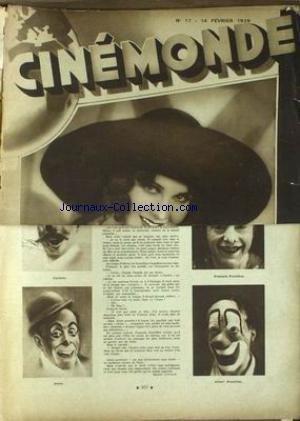 CINEMONDE [No 17] du 14/02/1929 - FRANCOIS - ALBERT FRATELLINI - CARIETTE - PERIN.