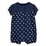 Tyoby Baby Baby-Säuglingsmädchen-Jungen-Einteiler-Karikatur-gestreifte Druckspielanzug-Bodysuit-Kleidung Freizeitheim Babykleidung(Dunkelblau,6M)