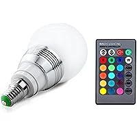 Lifebee Bombilla LED E14 5W Multicolor E14 RGB LED Bombillas Ajustable con Control Remoto Mando infrarrojo