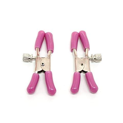Wiftly 1 Paire Pinces à Seins SM Réglable Vaginale Mamelon Clip Sexy Tools (Rose)