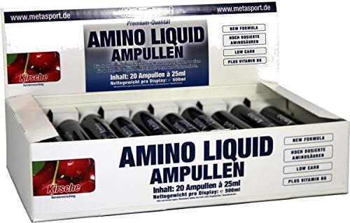 MetaSport Amino Liquid, 20 x 25 ml Ampullen, Lemon Lime