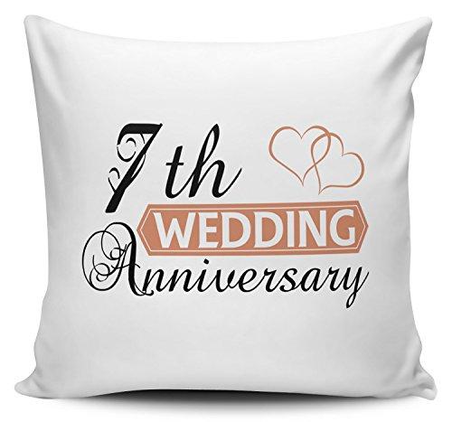Hochzeitstag (7. Wolle/kupfer)–Zwei Herzen Neuheit Kissenbezug