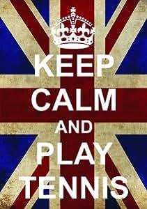 F2527 Play Tennis Funny Ww2 Union Jack Keep Calm And Carry