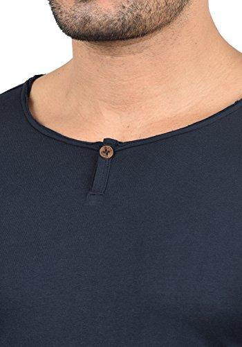 Blend Ireno Herren Longsleeve Langarmshirt mit Rundhals-Ausschnitt Aus Hochwertiger Baumwollmischung Mood Indigo (74648)