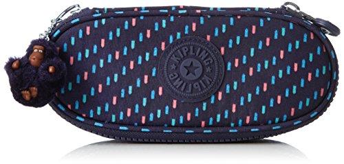 Kipling Duobox Estuches, 20 cm, 1 liters, Varios colores (Blue Dash C)