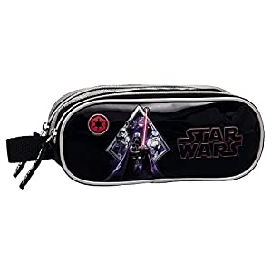 Star Wars Darth Vader Estuche de Doble Compartimento, Color Negro