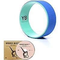 Jumbo (⌀38 cm) Yoga Wheel [Oficial Yogabody] – Wonder Wheel – DVD y guía de posturas en PDF incluidos, Azul/Turquesa