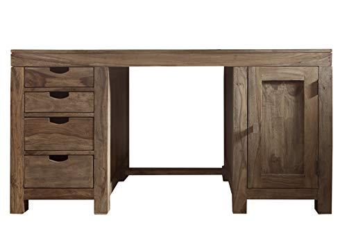 MASSIVMOEBEL24.DE Palisander massiv Holz Schreibtisch Sheesham Möbel Nature Grey #70