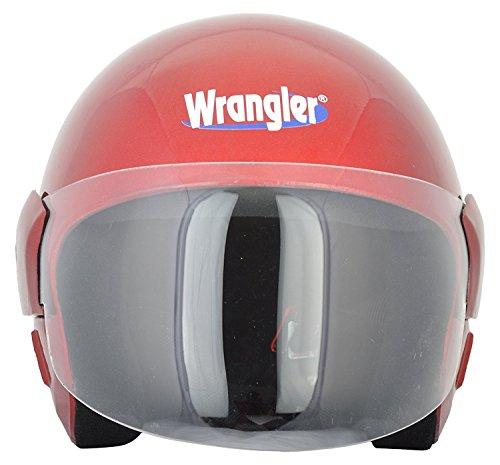 Wrangler Open Face Helmet with Visor (Red, M)