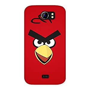 Delighted Red Yelo Peak Back Case Cover for Micromax Canvas 2 A110