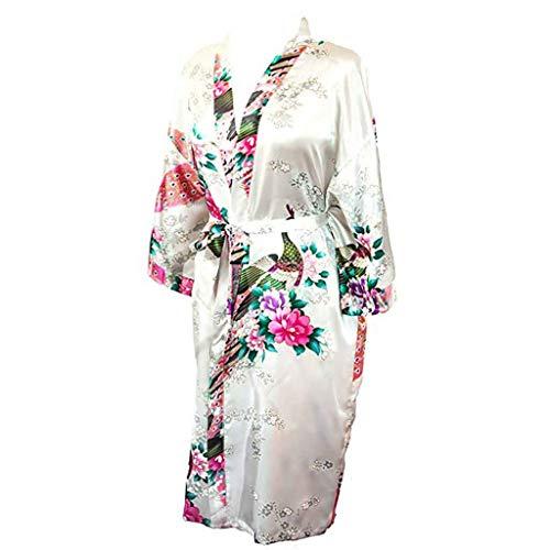 Amphia - Damen Bedruckt ethnisch lässige Pyjamas,Damen Silver Fox Fleece Printed Celebrity Style Lace Casual (Silver Fox Kostüm)