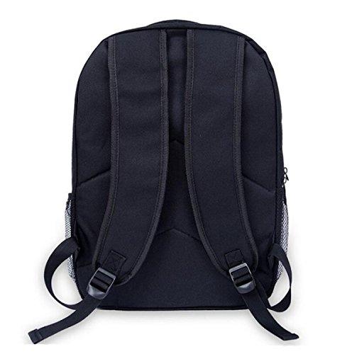 Umhängetasche Rucksack Computer Tasche Notebook Tasche Einfache Schüler Tasche Mode Wild Black