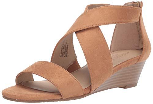 Aerosoles Women's Apprentice Wedge Sandal Strappy Ankle Wrap Sandal