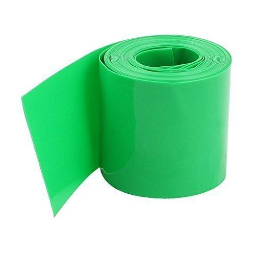 sourcingmap® 5 pezzi 2M 29.5mm Verde PVC Tubazione Restringente Wrap per 1 x 18650 Batteria
